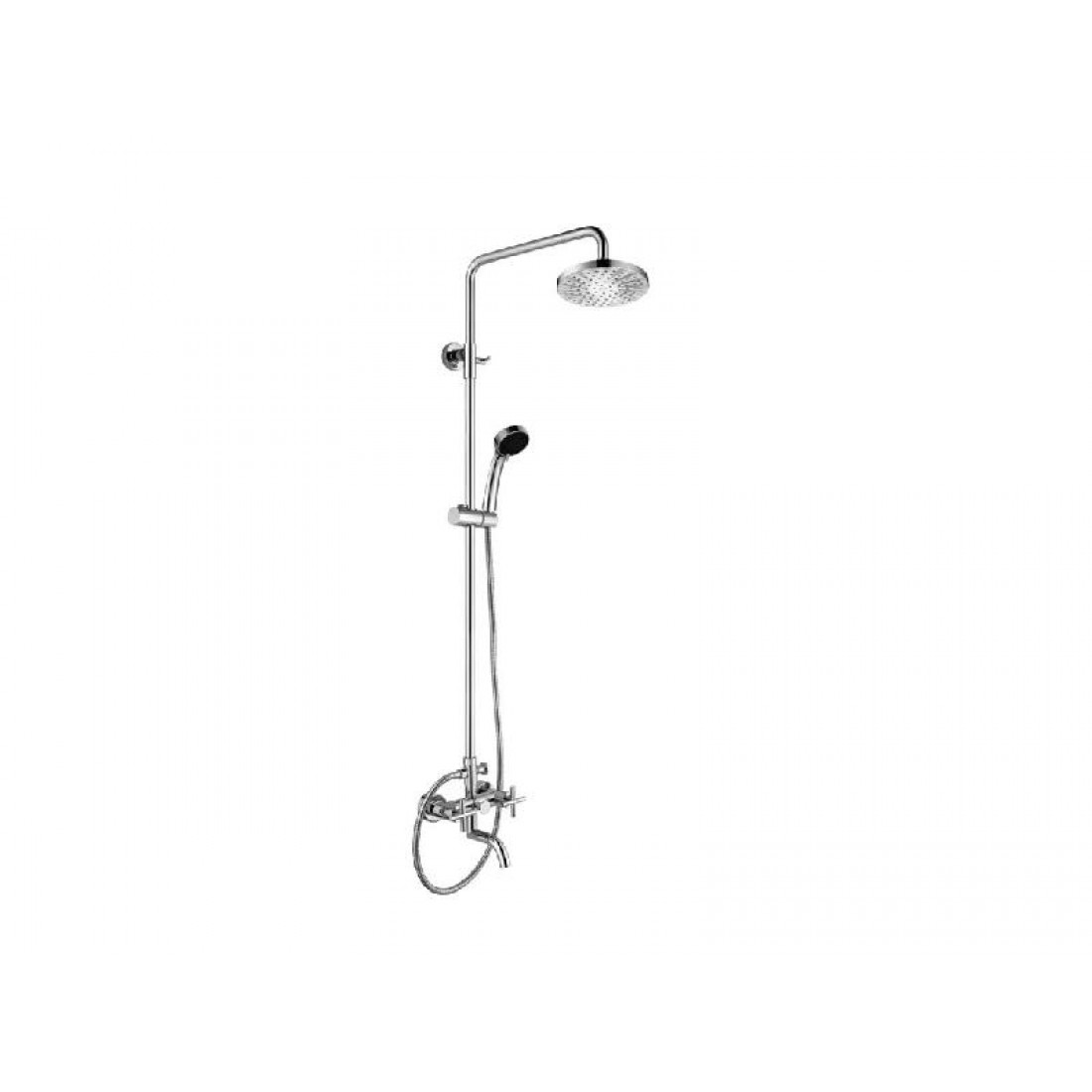 Karag Praxis 27029T7 Faucet Fixed Shower Chrome T7 Collection